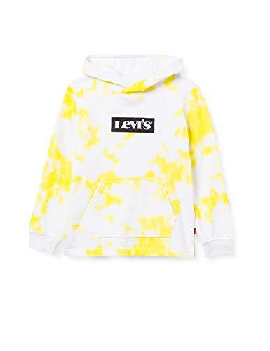 Levi's Kids LVB PRINTED PO HOODIE C787 Hooded Sweatshirt, LIMEADE, 12 ans Garçon