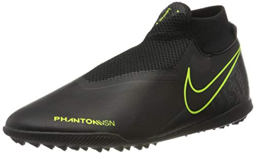 Nike Men's Soccer Phantom Vision Academy Dynamic Fit Turf Shoes (Black-Volt, Numeric_10)