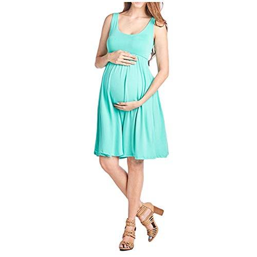 RENJIANFENG Frauen Schwangerschafts-Kleid Krankenhaus 3 in 1 Liefer Labor Für Schwangere Frauen Nursing Nightgown Plissee Stillen Ärmelnachtnachtwäsche,A,L