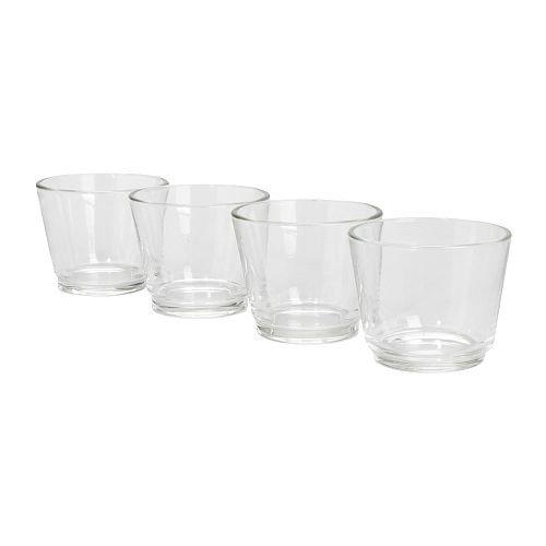 IKEA GALEJ Teelichthalter aus Glas; 4 Stück