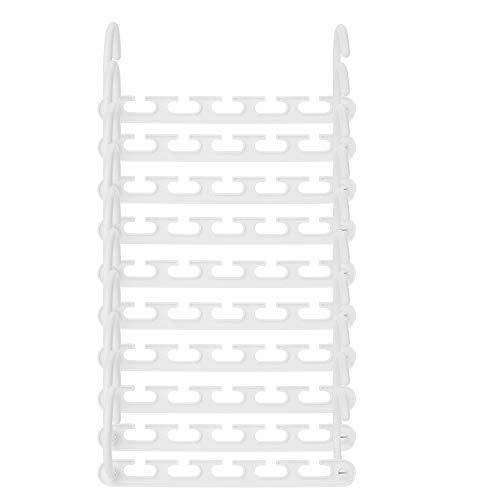 AIXMEET 10 Stück Kleiderbügel Kunststoff Schrank Organizer Kleiderschrank Platzsparend Mehrfach rutschfest Antirutsch Stabil Schwarz Magic Clothes Hanger Magic Clothes Hanger für Garderobe(Weiß)