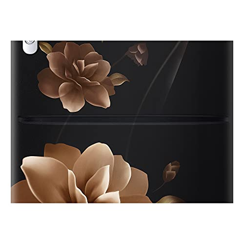 Samsung 192 L 3 Star Direct cool Single Door Refrigerator(RR20A182YCB/HL, Camellia Black, Base Stand with Drawer)