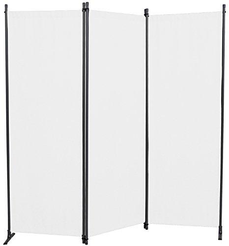 Angerer Paravent 3-tlg. PE-Gewebe weiß, 630/006/05, 165 x 2 x 165 cm
