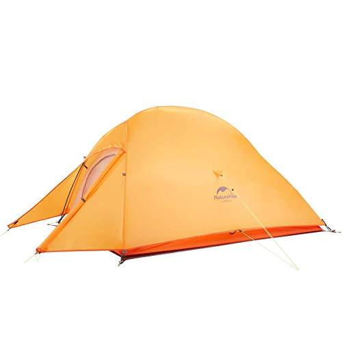 Naturehike 正規店 ネイチャーハイク CloudUp2 アップグレード版 2人 超軽量 自立式 テント グランドシート付き PU3000/4000 二層構造 キャンプ アウトドア 登山 防雨 防風 防災 (オレンジ 210T)