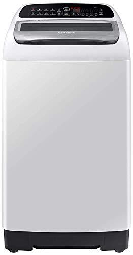 Samsung 6.5 Kg 5 Star Inverter Fully-Automatic Top Loading Washing Machine (WA65T4262GG/TL, Light Grey, Wobble technology)