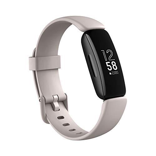 Fitbit Inspire 2 - Tracker per Fitness e Benessere con Un Anno di Prova Gratuita del Servizio Fitbit Premium, Rilevazione Continua Battito Cardiaco e Durata Batteria fino a 10 Giorni, Lunar White