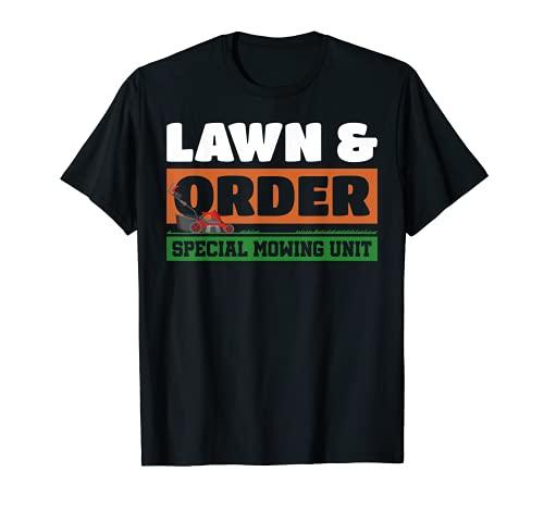Césped y Orden Especial Unidad de Cortacésped Humor Parodia Camiseta