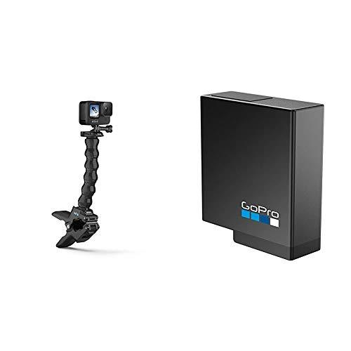 GoPro Jaws: Flex ClampSoporte para videocámaras Hero, Negro + Rechargeable Battery (Hero 5/6/7)