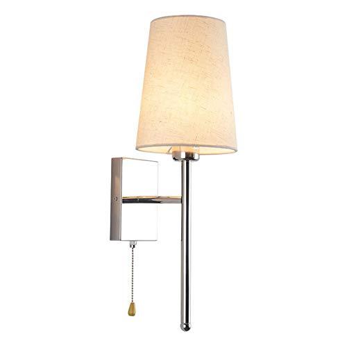 RUIXINBC Binnen RVS wandlamp, trommel stof lampenkap smeedijzeren wandlamp, decoratieve verlichting geschikt voor slaapkamer studio woonkamer