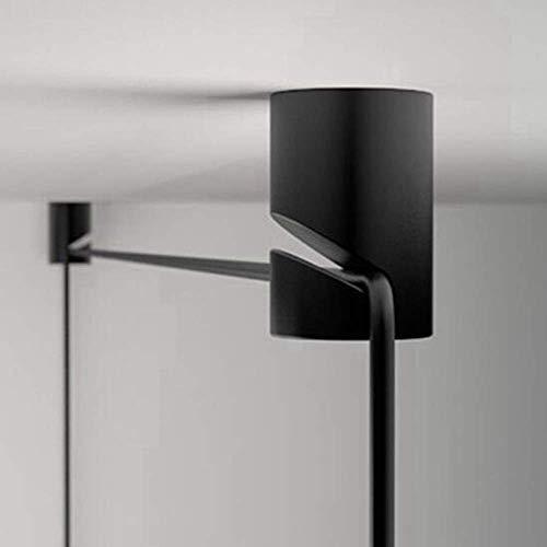 Set van 4 stuks DIY hanglamp lamp kabel haak mat zwart snoer clip draad klemmen