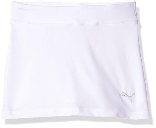 PUMA Golf Girls' 2019 Solid Knit Skirt, Bright White, Medium