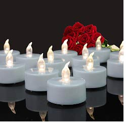 Tappovaly Tea Lights, 24 Pack Flameless LED Candles Battery Operated Tea Lights Candles Long Lasting Tealight for Wedding Holiday Party Home Decoration (Warm White)