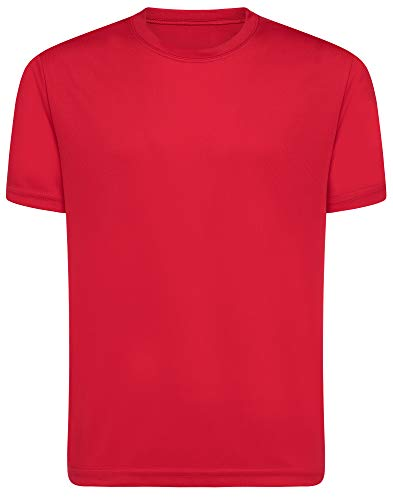 Opna Youth Boys Dri Fit Athletic T Shirts for Boys & Girls Sports Undershirt – Youth & Teen Sizes RED-M