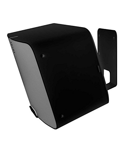 Vebos Wall Mount Sonos Play 5 gen 2 Black 20 Degrees and Optimal Sound Experience in Every Room - Compatible with SONOS Play:5