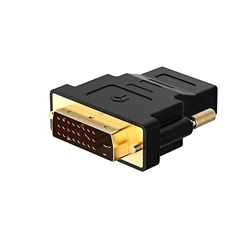 HeyNana - Adattatore DVI a HDMI, bidirezionale HDMI a DVI-D Maschio a Femmina con Cavo Placcato in Oro, 1 Pezzo
