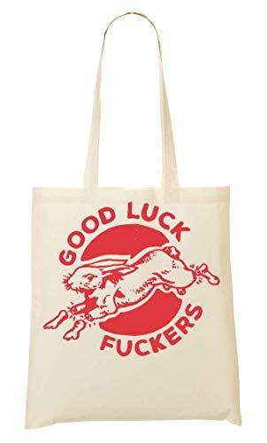 Good Luck Fuckers Artwork Red Tragetasche Einkaufstasche