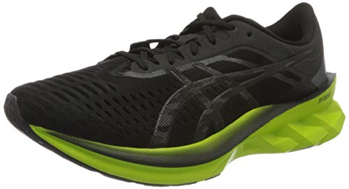 ASICS Mens Novablast Running Shoe, Black/Lime Zest,46 EU