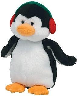 Ty Sac /à bandouli/ère Peluche Sequins 20cm-Waddles Le Pingouin TY95129 Multicolore