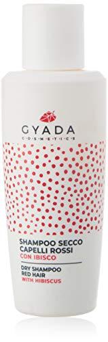 Gyada Cosmetics - Champú seco para cabellos rojos  Certificado ecológico  Fabricado en Italia  50 g