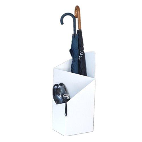 Porte-parapluies Iron Art Parapluie Géométrie irrégulière Sol Blanc 8 * 10 * 24 Pouces