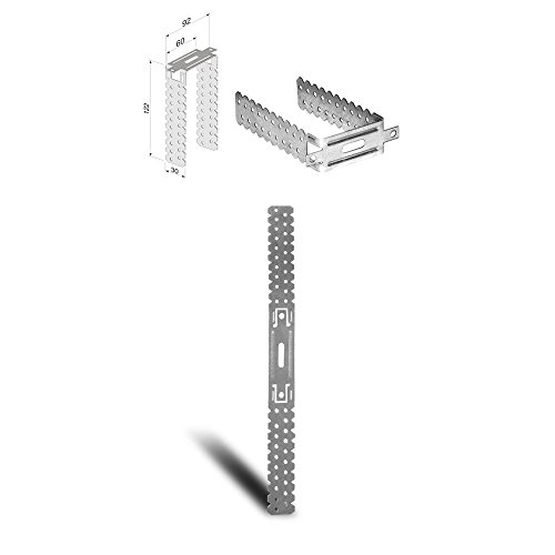 Direktabhänger 125mm - 100 Stück U-Abhänger für Holzlatten Deckenabhänger CD-Profile flach
