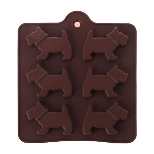 Silikon 6-Dog DIY Kuchen Dekoration Backform Süßigkeiten Schokolade Backen Backen Backform Küche Bakeware Werkzeug