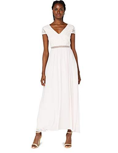 TRUTH & FABLE Damen Maxi Chiffon-Kleid mit A-Linie, Rosa (Rosenwasser), 42, Label:XL