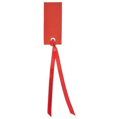 Weddix 12 etichette con nastrino rosse Taglia Unica