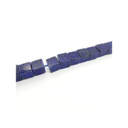 Mineral Import Hilo de Lapislazuli Cubos 8x8mm