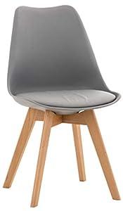 DESIGN SCANDINAVO - sedia moderna con versione con scocca in polipropilene e cuscino imbottito o seduta interamente rivestita. La sedia da tavolo soggiorno è ispirata al modello del nord Europa e combina linee moderne e rétro per un risultato imperdi...