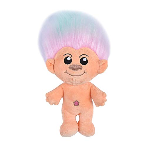 Universal Studios Trolls Toys for Dogs | Plush Dog Toy with Rainbow Hair, 9 Inches | Soft and Cute Squeaky Dog Toys for All Dogs, Stuffed Animals for Dogs