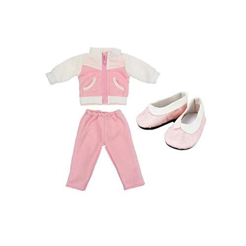Unicoco 18 Zoll Puppenkleidung Sport Outfits Mit Schuhen Für 18 Zoll American Girl Puppenzubehör 1set