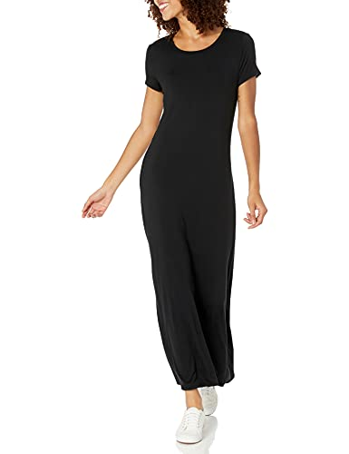 아마존 ESSENTIALS 여성의 짧은 소매 맥시 드레스