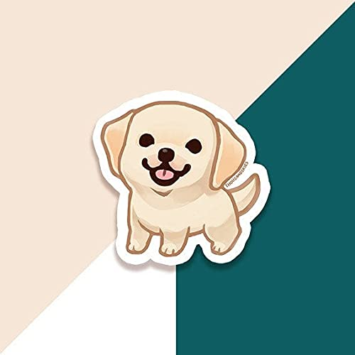 DKISEE Pegatina Decoración Labrador Retriever – Vinilo Crema 6 pulgadas Coches, Ventanas, Espejos, Portátiles, Dispositivos Móviles Calcomanía