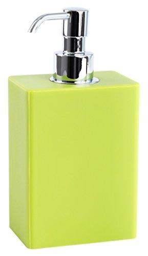 Geelli GVA-D01-C50 Ivasi Dispenser en gel de polyuréthane/chromé plaque pompe laiton Vert 9,5 x 6,5 x 18 cm