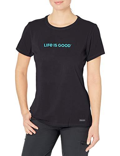 Life Is Good, Crusher Damen-T-Shirt, tiefschwarz, Größe XL