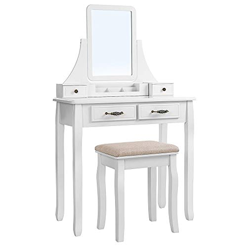 Check Out This Generic002 European Solid Wood Simple Dressing Table Set with Mirror and Stool, Dress...