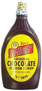 Fox's U-bet Chocolate Flavor Syrup 20oz - 6 Unit Pack
