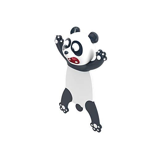 Ocean Series Nette Lesezeichen, Verrücktes Lesezeichen Palz für Kinder Frauen Männer, Cartoon Animal Style PVC 3D Squashed Lesezeichen(panda)