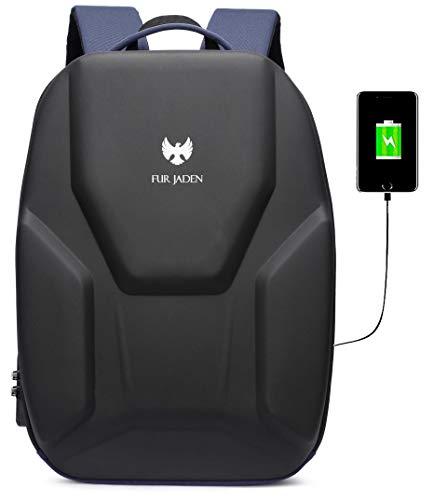 Fur Jaden Anti Theft Hardcase Laptop Backpack with...