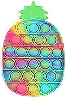 YIMEIM Pop It Ananas, decompressie-ananasseelspeelgoed, kleurrijk, milieuvriendelijk, duurzaam, zacht, wasbaar, waterdicht...