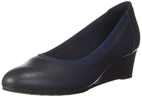 Clarks Damen Mallory Berry Geschlossene Sandalenn, Blau (Navy Leather Navy Leather), 40 EU