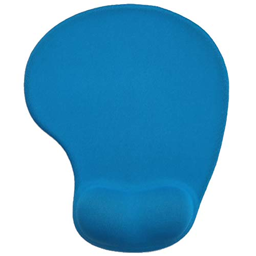 Gel Mouse Mat Ergonomic Small Mouse Pad with Wrist Rest Mousepad for Carpal Tunnel Blue Pack of 1