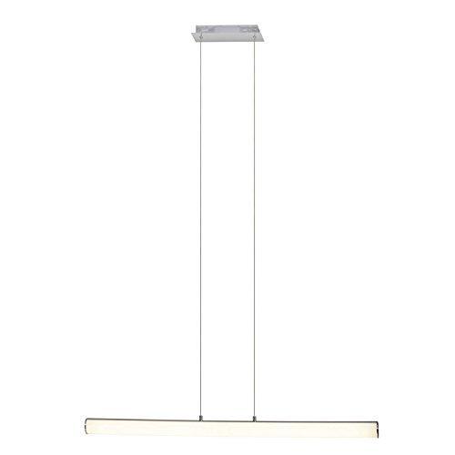 Brilliant Tube LED Pendelleuchte Balken 100cm mit Touchdimmer chrom/weiß 1685 Lumen, LED integriert