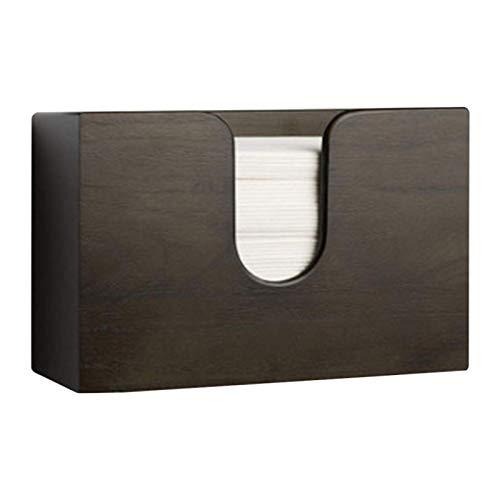 ALEOHALTER Bambus Papierhandtuchspender Wandhalterung Küchenarbeitsplatte Schreibtisch Dreifach gefaltet Z-Fach oder einfach gefaltet Hand Papierhandtuchhalter