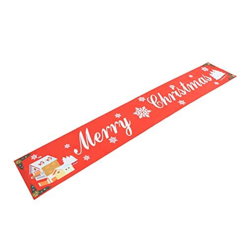 Frohe Weihnachten Banner Hängen Dekoration: Weihnachten Baum Schneeflocke Dorf Garland Bunting Fahnen Rot Urlaub Hintergr& Requisiten für Kamin Mantel Wand