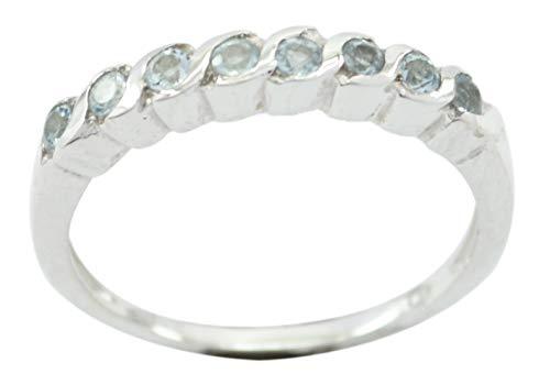 frei 925 Sterling Silber Exquisite echte Blaue Ring Geschenk de
