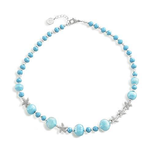 Antica Murrina Marine Necklace Light Blue