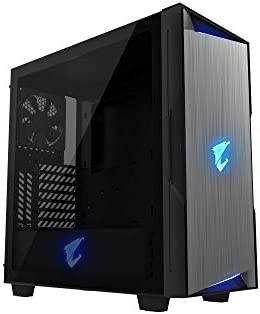 AORUS C300 Glass ATX Gaming Case Tinted Tempered Glass RGB Fusion 2 0 Upgraded I O Panel with product image