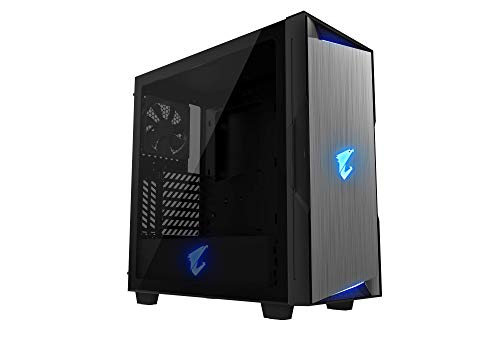 Gigabyte AORUS C300 Glass Midi-Tower Negro - Caja de Ordenador (Midi-Tower, PC, Vidrio, De plástico, Acero, ATX,Micro-ATX,Mini-ITX, Negro, Juego)